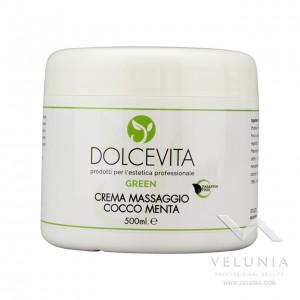 Crema Massaggio Corpo (cocco - menta) - Dolcevita Green - Vaso 500 ml