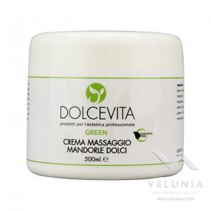 Crema Massaggio Corpo Mandorle Dolci - Dolcevita Green - Vaso 500 ml
