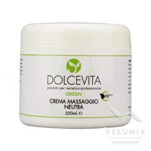 Crema Massaggio Corpo Neutra - Dolcevita Green - Vaso da 500 ml