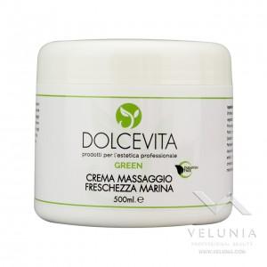 Crema Massaggio Drenante Freschezza Marina ( Quercia marina - Ippocastano - Centella asiatica) Dolcevita Green - Vaso 500 ml