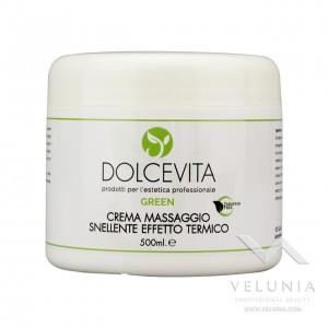Crema Massaggio Snellente Effetto Termico (Luppolo - Ginepro - Quercia Marina) - Dolcevita Green - Vaso 500 ml