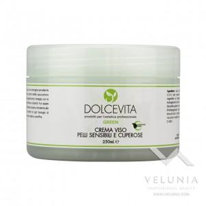 Crema Viso Lenitiva (pelle sensibile) - Dolcevita Green - Vaso  250 ml