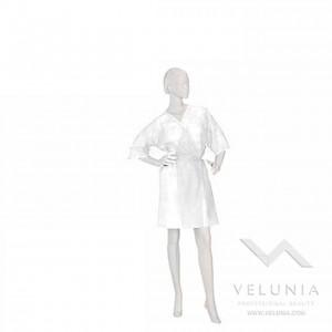 Kimono Monouso Bianco TNT Unisex - Confezionato Singolarmente - 10 pz