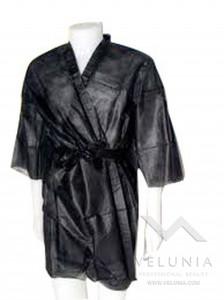 Kimono Monouso Nero TNT Unisex - Confezionato Singolarmente - 10 pz