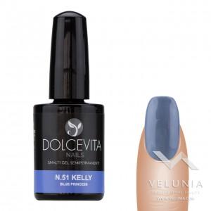 Smalto Semipermanente (Smalto Gel) 51 Kelly - Blue Princess 1
