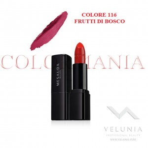 MESAUDA BACKSTAGE ROSSETTO LUCIDO BRILLANTE LUMINOSO  PROFESSIONALE COLORE 116 FRUTTI DI BOSCO