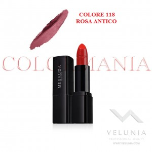MESAUDA BACKSTAGE ROSSETTO LUCIDO BRILLANTE LUMINOSO  PROFESSIONALE COLORE 118 ROSA ANTICO