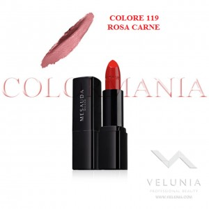 MESAUDA BACKSTAGE ROSSETTO LUCIDO BRILLANTE LUMINOSO  PROFESSIONALE COLORE 119 ROSA CARNE