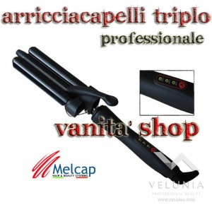 PIASTRA/FERRO ARRICCIACAPELLI IN CERAMICA PROFESSIONALE TRIPLEX MELCAP