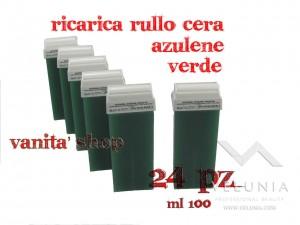 RICARICA RULLO CERA CLOROFILLA VERDE 24pz 100ml