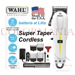 WAHL SUPER TAPER CORDLESS TAGLIACAPELLI TOSATRICE PROFESSIONALE BARBER SHOP