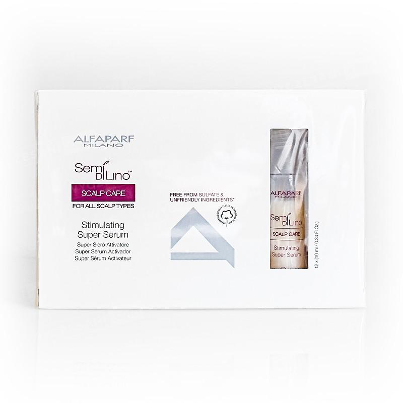 ALFAPARF MILANO Semi di Lino Scalp Care Super Siero Stimolatore 12X10ml