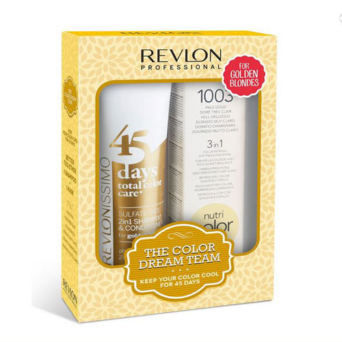 REVLON PROFESSIONAL Sulfate Free 45 Days Golden Blonde 275ml + Nutri Color 1003 100ml