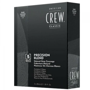 AMERICAN CREW Precision Blend Natural Gray Coverage 3x40ml 2-3 Dark