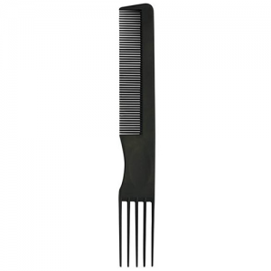 BiFULL Pettine Nero Forchetta 5 Denti Plastica N°004