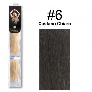 SOCAP Extension Basic Light 50/55cm 25 Ciocche 6 Castano Chiaro