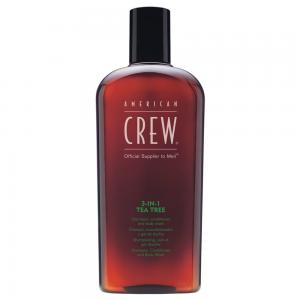 AMERICAN CREW 3 In 1 TEA TREE Shampoo - Conditioner - Body Wash 100ml