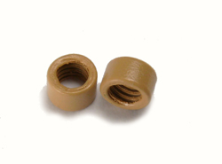 connettori per extension a freddo con zigrinatura interna colore marrone chiaro