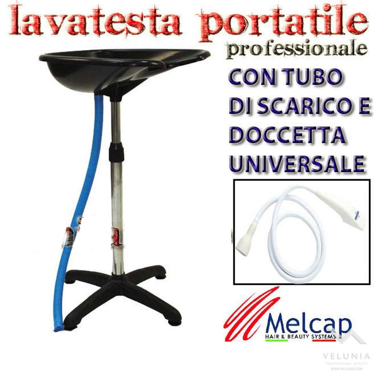 LAVATESTA PORTATILE PROFESSESSIONALE MELCAP CON TUBO DI SCARICO E DOCCETTA UNIVERSALE
