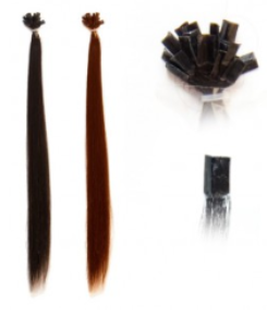extension capelli naturali colore Burgundy