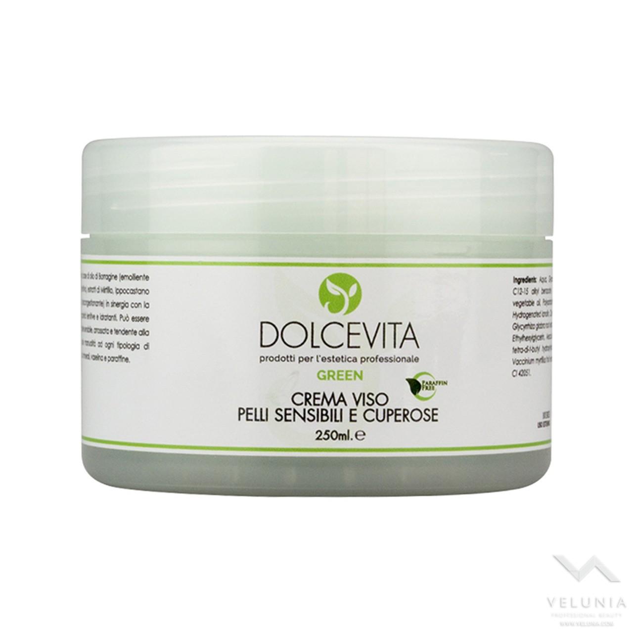 Crema Viso Lenitiva (pelle sensibile) - Dolcevita Green - Vaso  250 ml 1