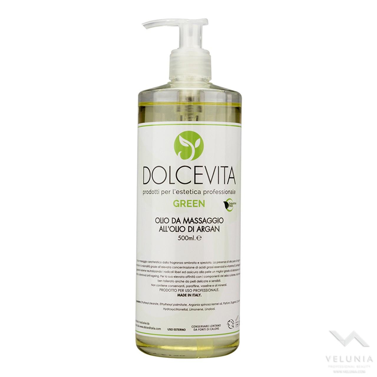 Olio Massaggio all Olio di Argan - Dolcevita Green - Flacone 500 ml 1