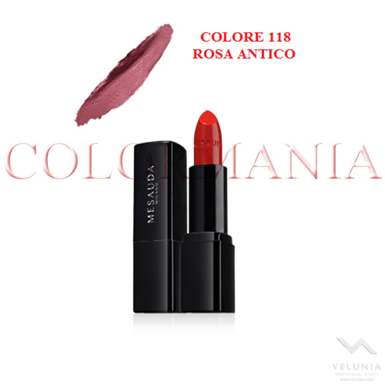 MESAUDA BACKSTAGE ROSSETTO LUCIDO BRILLANTE LUMINOSO  PROFESSIONALE COLORE 118 ROSA ANTICO 1