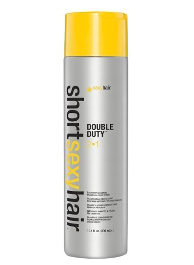 SEXY HAIR Short Sexy Hair Double Duty 2 in 1 Deep Cleans Shampoo Conditioner 300ml 1