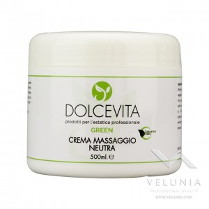 Crema Massaggio Corpo Neutra - Dolcevita Green - Vaso da 500 ml