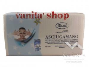 ASCIUGAMANO IN CARTA A SECCO MONOUSO GOFFRATA PROFESSIONALE RO.IAL 40X70 PZ. 70