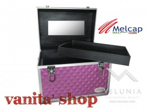 BEAUTY CASE/VALIGIA VIOLA PER NAIL ART DIDATTICA ESTETICA MAKE UP MELCAP