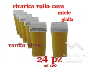 RICARICA RULLO CERA MIELE GIALLA 24pz 100ml