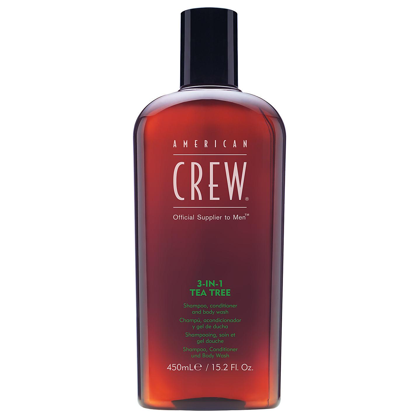 AMERICAN CREW 3 In 1 TEA TREE Shampoo - Conditioner - Body Wash 450ml