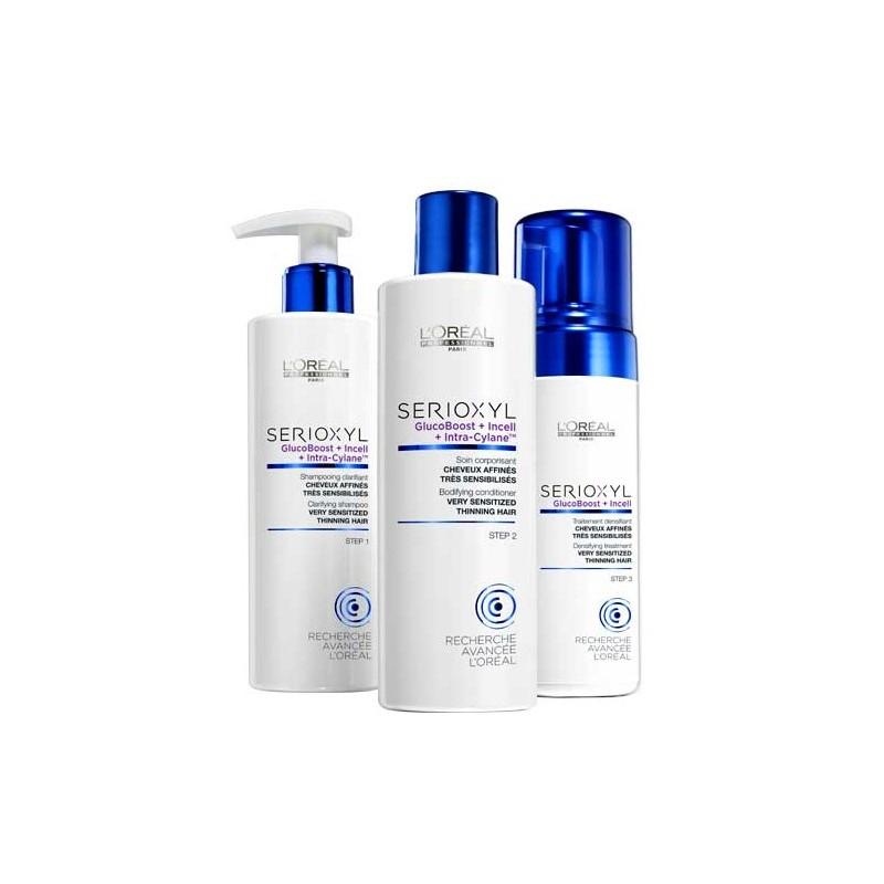 L'OREAL SERIOXYL Fuller Hair 3 Kit Capelli Molto Sensibilizzati