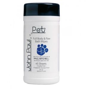 JOHN PAUL PET Full Body & Paw Wipes 45 Sheets 20cm x 15cm