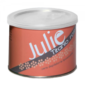 JULIE Cera Depilatoria Liposolubile Titanio Rosa 400ml