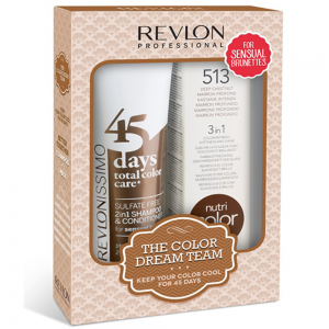 REVLON PROFESSIONAL Sulfate Free 45 Days Sensual Brunettes 275ml + Nutri Color 513 100ml