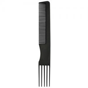 BiFULL Pettine Nero Forchetta 5 Denti Plastica N°004