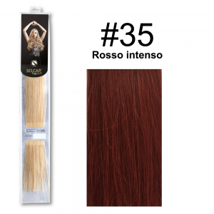 SOCAP Extension Basic 50/55cm 25 Ciocche 35 Rosso intenso