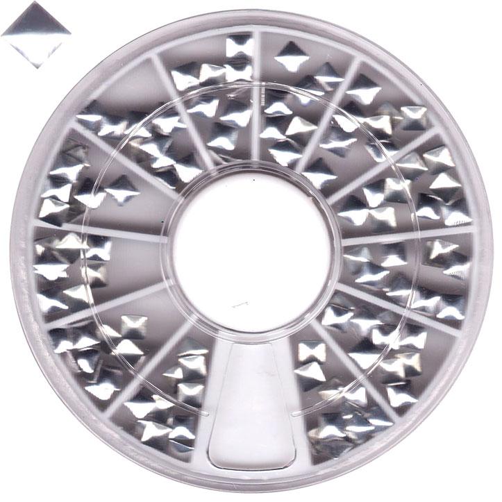 Borchie quadrate argento